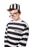 滑稽的监狱囚犯 免版税库存照片