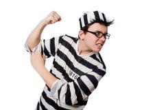 滑稽的监狱囚犯 图库摄影