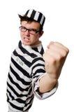 滑稽的监狱囚犯 库存图片