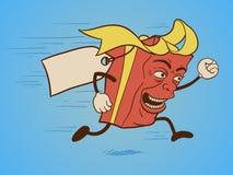 滑稽的礼物盒漫画人物 免版税库存图片