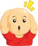滑稽的秃头孩子动画片  免版税库存图片