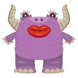 滑稽的紫色妖怪 图库摄影