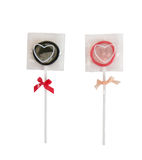 滑稽的糖果形状避孕套 库存照片