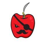 滑稽的红色苹果 库存图片