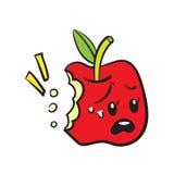 滑稽的红色苹果 库存照片