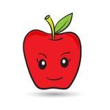 滑稽的红色苹果 免版税库存图片