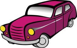 滑稽的老汽车动画片 免版税库存照片
