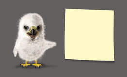 滑稽的老鹰小鸡 库存图片