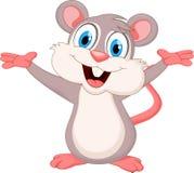 滑稽的老鼠动画片挥动的手 皇族释放例证