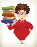 滑稽的肥胖夫人Education Concept 库存照片