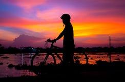 滑稽的自行车 免版税库存图片