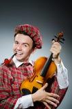 滑稽的苏格兰男子 库存照片
