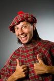 滑稽的苏格兰男子 库存图片