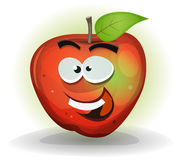 滑稽的苹果计算机果子字符 库存照片