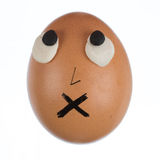 滑稽的蛋面孔 库存图片