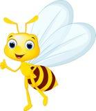 滑稽的蜂动画片 免版税库存图片