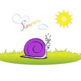 滑稽的蜗牛-动画片 库存图片