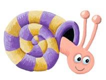 滑稽的蜗牛 图库摄影