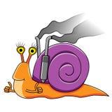 滑稽的蜗牛 库存图片
