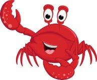 滑稽的螃蟹动画片 库存例证