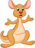 滑稽的袋鼠动画片 免版税图库摄影