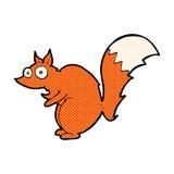 滑稽的被震惊的灰鼠可笑的动画片 免版税库存照片