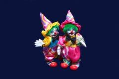 二个玩具小丑。 图库摄影
