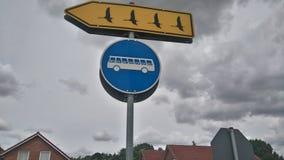滑稽的路标 免版税图库摄影