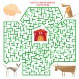 滑稽的迷宫 谜 免版税库存照片