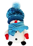 滑稽的雪人玩具 免版税库存照片