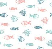 滑稽的鱼概述样式 向量例证