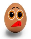 滑稽的鸡蛋 库存照片