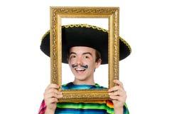 滑稽的年轻墨西哥人 图库摄影