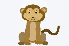 滑稽的猴子 例证 库存照片