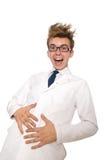 滑稽的医生被隔绝 库存照片