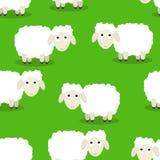 滑稽的绵羊的无缝的样式 库存图片