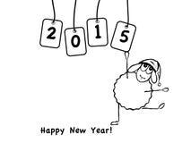 滑稽的绵羊,新年 图库摄影