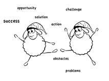滑稽的绵羊 免版税库存图片