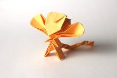 滑稽的origami猴子 免版税库存照片