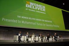 穆哈姆马YUNUS _WOMEN提供会议2016年 库存照片