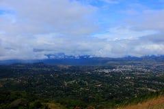 穆塔雷津巴布韦从Cecilkop的东部丘陵地带视图 库存照片