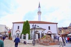 穆拉特巴夏清真寺,斯科普里,马其顿 免版税库存照片