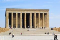穆斯塔法凯末尔阿塔图尔克,陵墓在安卡拉土耳其 免版税库存照片