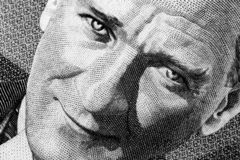 穆斯塔法凯末尔Atatà ¼在金钱的rk画象 免版税库存图片