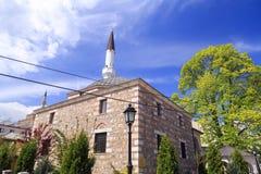 穆斯塔法巴夏和Arasta清真寺,斯科普里,马其顿 图库摄影