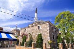 穆斯塔法巴夏和Arasta清真寺,斯科普里,马其顿 免版税库存照片