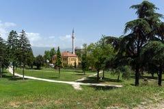 穆斯塔法巴夏` s清真寺在市斯科普里,马其顿共和国 免版税库存图片