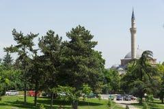 穆斯塔法巴夏` s清真寺在市斯科普里,马其顿共和国 免版税库存照片