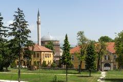 穆斯塔法巴夏` s清真寺在斯科普里,马其顿共和国 免版税库存照片