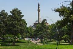 穆斯塔法巴夏` s清真寺在斯科普里,马其顿共和国 免版税图库摄影